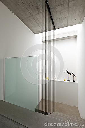Modern interior, staircase
