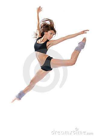 Free Modern Jazz Contemporary Style Woman Ballet Dancer Royalty Free Stock Photos - 20708118