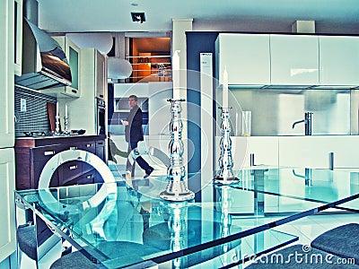 Modern kitchen Editorial Photo