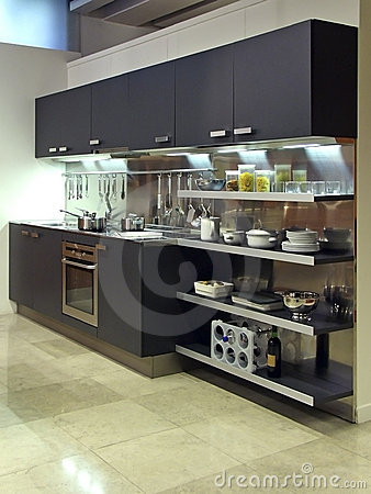Free Modern Kitchen Architecture 03 Royalty Free Stock Photography - 690407