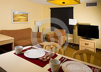 Studio Apartment Kitchen Dining Living Space