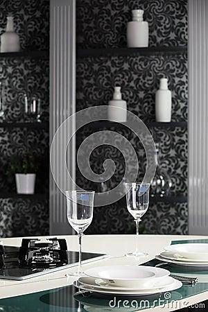 Modern kitchen in european style