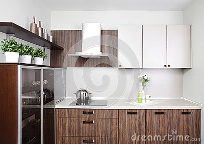 Modern kitchen in european style