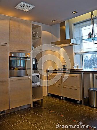 Modern kitchen in home