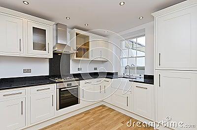 Modern kitchen L shape kitchen in white