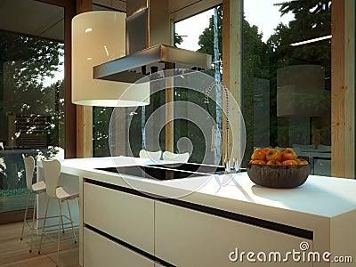 Modern kitchen with warmth