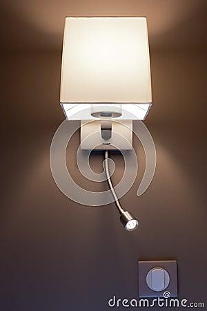 Modern lamp in a bedroom