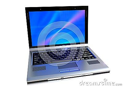 A modern laptop computer