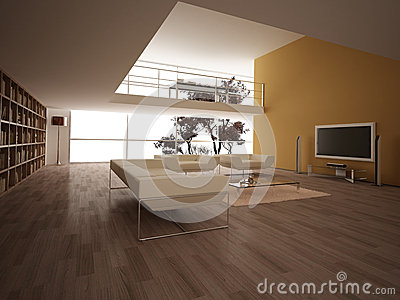 Modern large living-room.