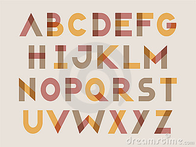 Modern letter set