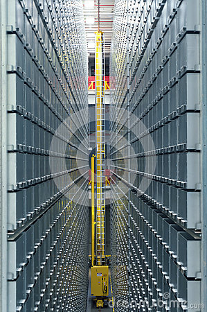 Modern library automated shelving system