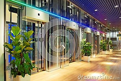 Modern lift lobby