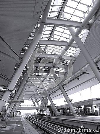 Modern Light Rail Station