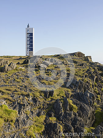 Modern lighthouse in Galicia