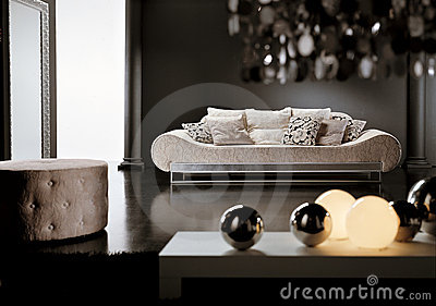 Modern Living Room  on Home   Royalty Free Stock Photos  Modern Living Room