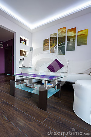 Modern living room with Cliffs of Moher picture