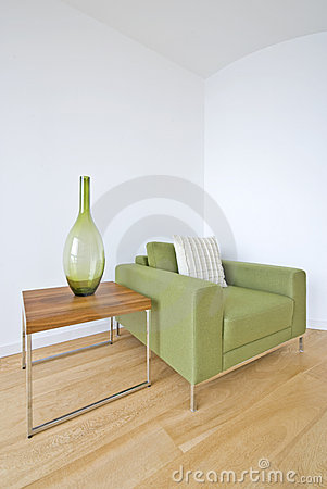 Free Modern Living Room Detail With Green Armchair Royalty Free Stock Image - 14942526