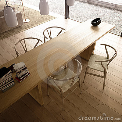 Free Modern Living Room With Table And Chairs Stock Image - 10773081