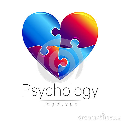 Free Modern Logo Of Psychology. Puzzle Heart. . Creative Style. Logotype In Vector. Design Concept. Brand Company. Blue And Royalty Free Stock Photo - 81267855