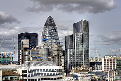 Modern London city skyline office