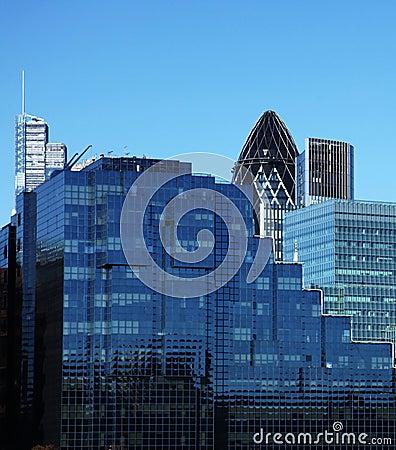 Modern London Office Blocks