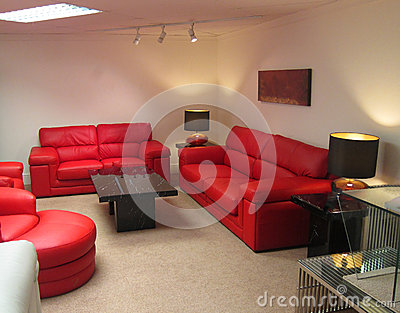 or living room red upholstery with table lamps and subdued lighting. Black Bedroom Furniture Sets. Home Design Ideas