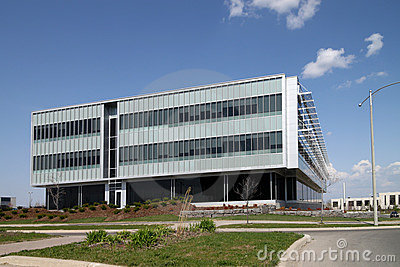 Modern low rise office building