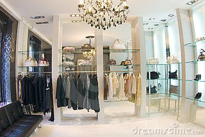 Modern luxury boutique interior