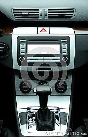 Modern luxury car interior