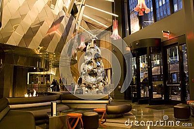 Modern luxury hotel lobby Editorial Stock Photo