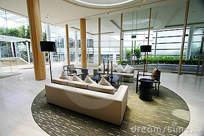 Modern luxury resort interior