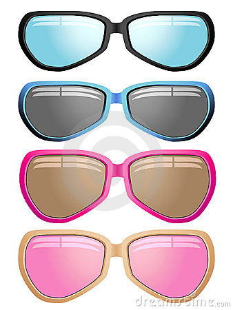 Modern male and female sunglasses