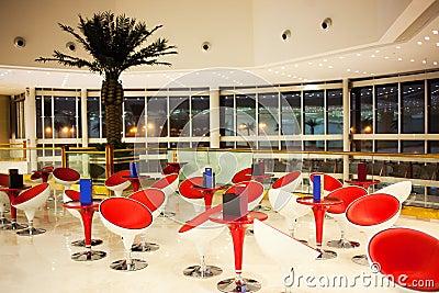 Modern mall food court