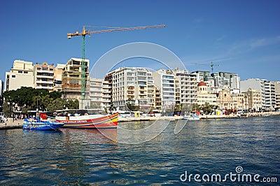 Modern Malta, Sliema waterfront. Editorial Image