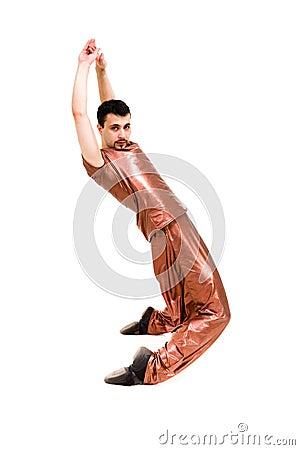 Modern man dancer posing