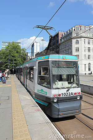 Modern Manchester Tram Editorial Photography