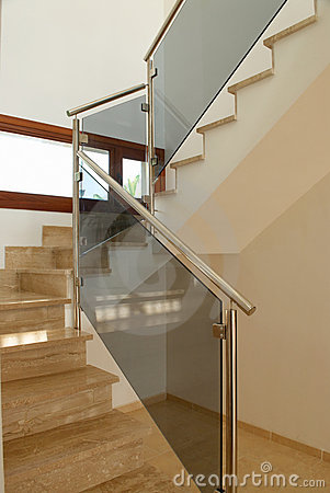 Modern marble staircase