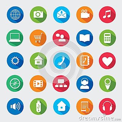 Modern media design elements.