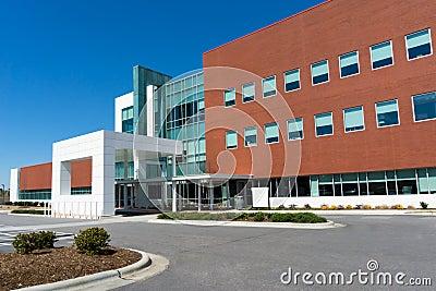Modern medical center building