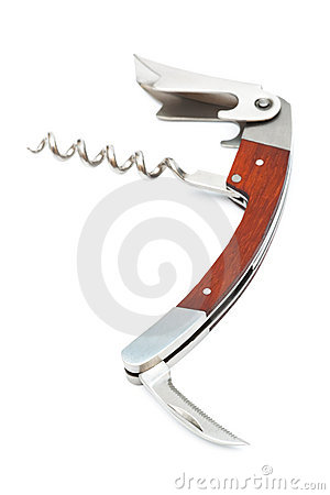 Modern metal corkscrew