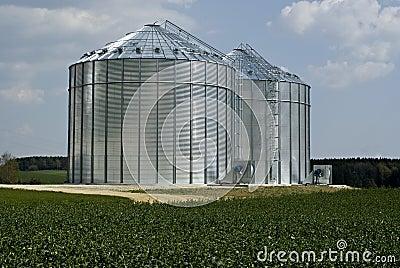 Modern metal silos