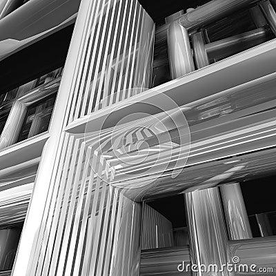 Modern metal structure detail