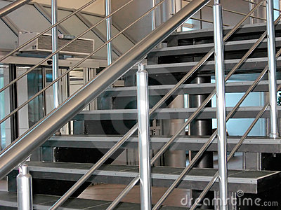 Modern metallic stairs