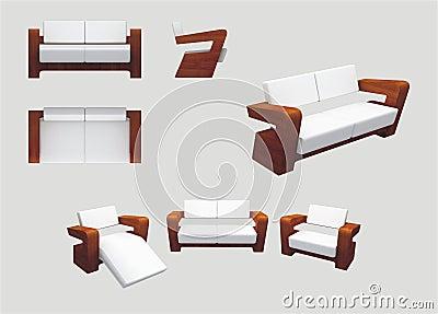 Modern meubilair voor ontspanning royalty vrije stock foto beeld 17743565 - Modern meubilair en oude ...
