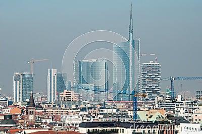 Modern Milan skyline