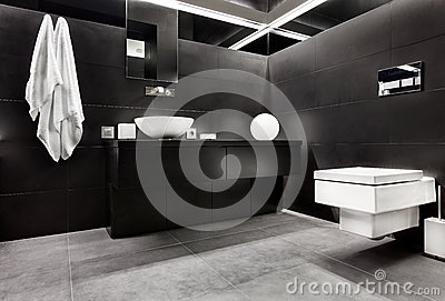 Modern minimalism style bathroom