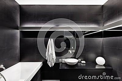 Modern minimalism style bathroom interior