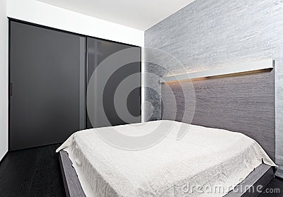 Modern minimalism style bedroom interior