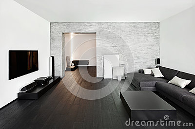 Modern minimalism style drawing room interior royalty free stock image 27148354 for Interieur moderne