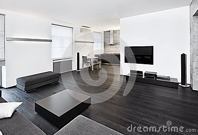 Modern minimalism style studio interior